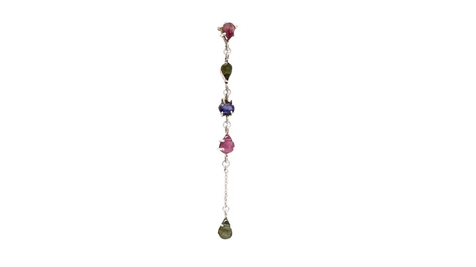 Mono earring Krystalos Turmalinas