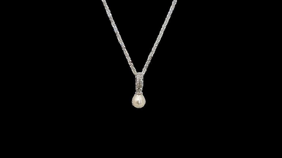 Collar Perla Zirconias