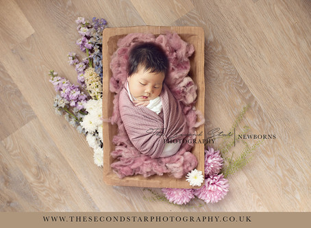 Floral Collection of digital backdrops & DIY newborn lockdown portraits