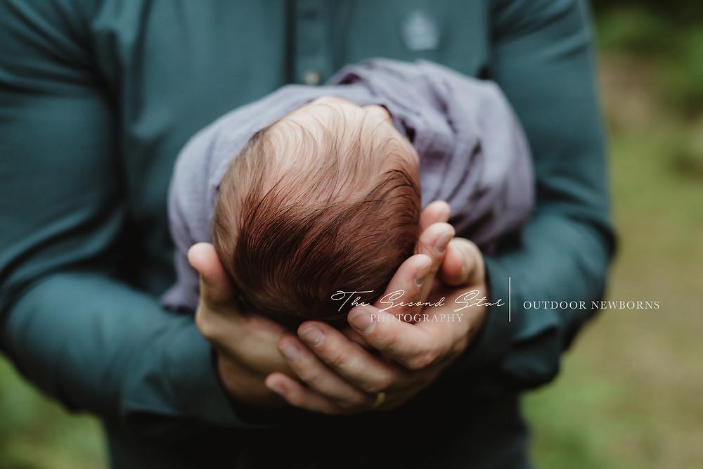 Outdoor newborn photoshoot Bicester