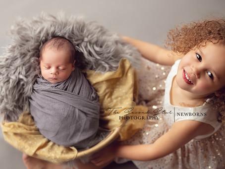 Baby S's newborn and sibling photoshoot - Oxfordshire newborn photographer