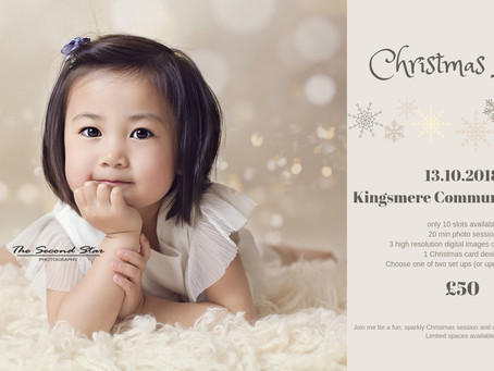 Bringing the Christmas magic to Bicester with Christmas mini photo sessions