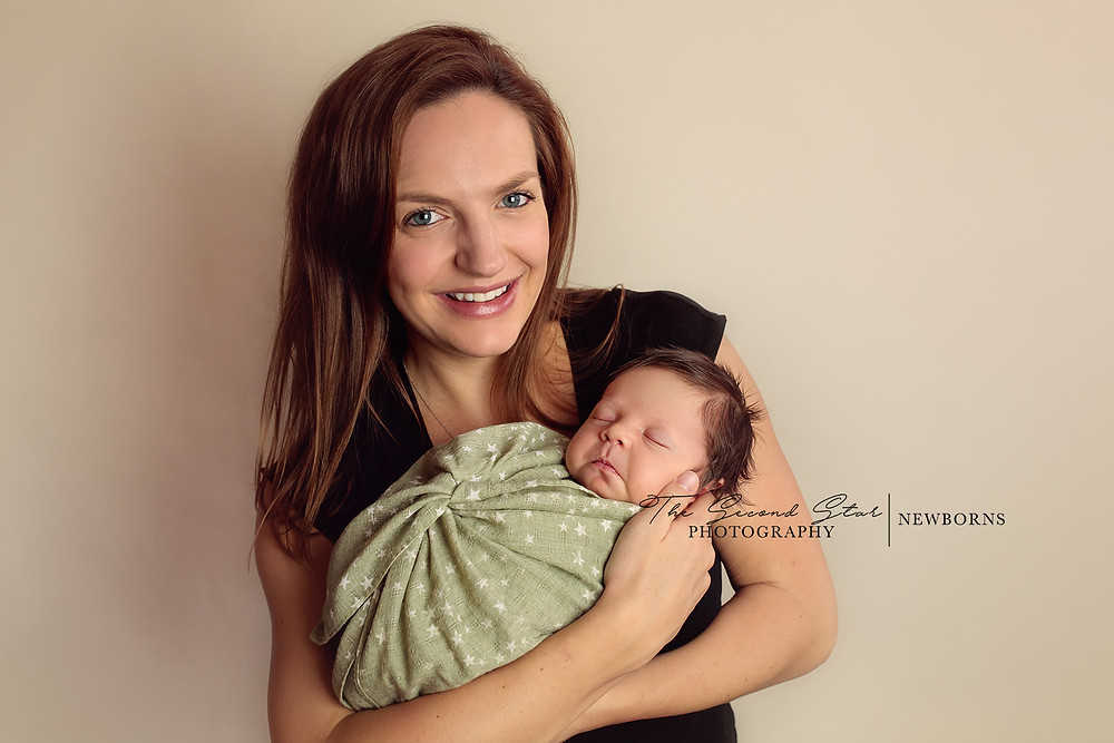 In home newborn photo session Oxfordshire