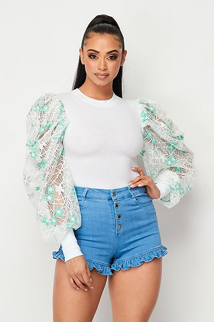 White Puff Sleeve Lily Blouse