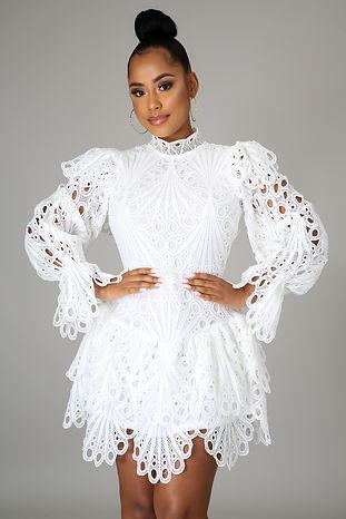 White Diva Vibes Dress
