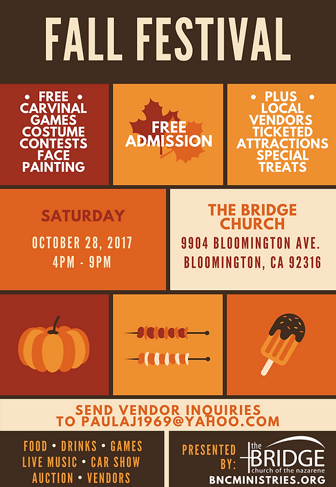 school fall festival flyer