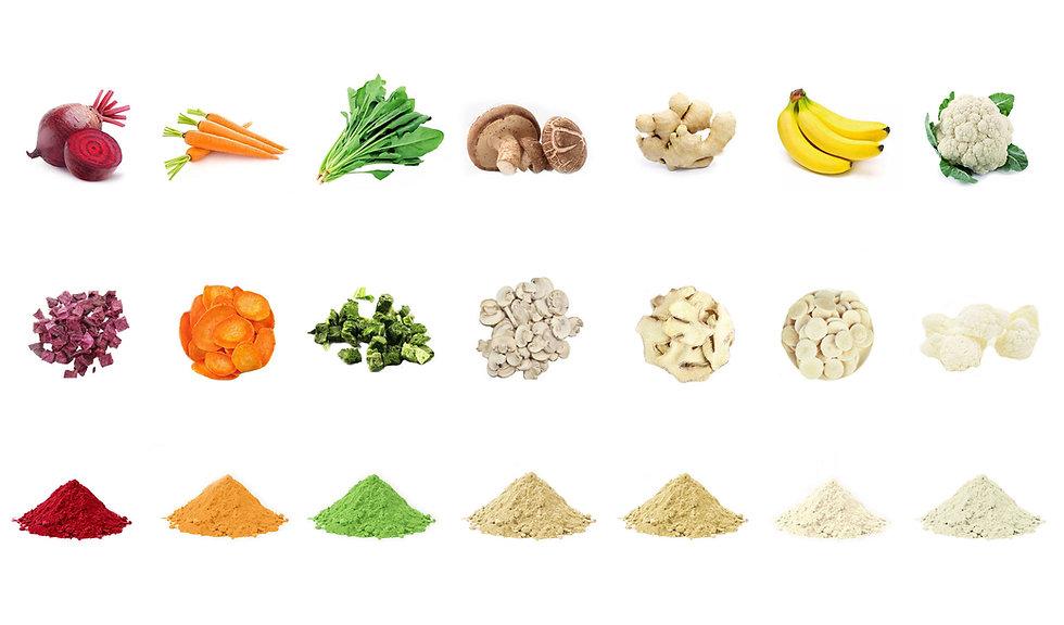 Organic Ingredients whole dice flake powder