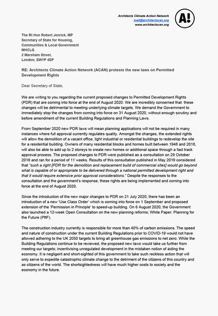 ACAN PDR Campaign Open-Letter to Robert Jenrick