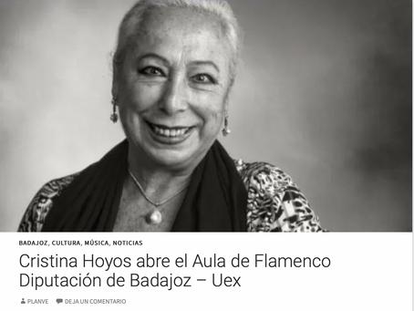 Cristina Hoyos abre el Aula de Flamenco Diputación de Badajoz – Uex