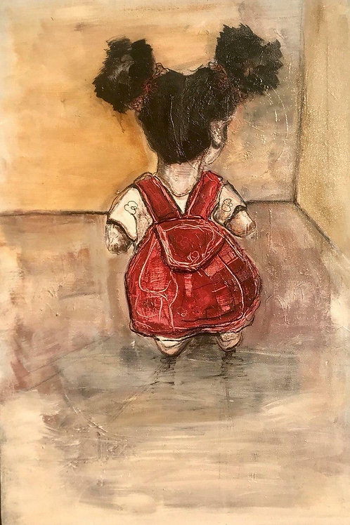 The lady with the important bag