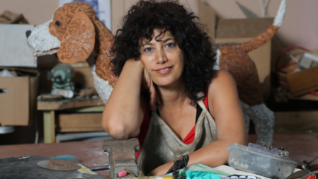 Nirit Levav Packer, l'artiste dé-raillé qui a l'art de recycler un vélo !