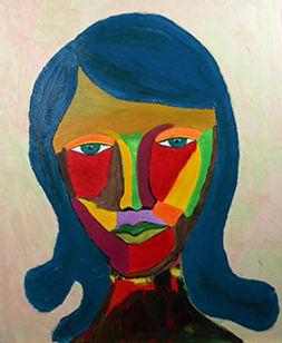 Femme moderne Format 65 X 54 cm Acryliqu