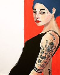 Femme au tatouage, 2020, 40X50CM.jpg