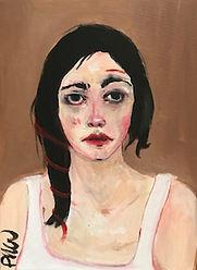 portrait au fil rouge, 2020, 30X40cm.jpg