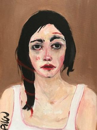 Portrait au fil rouge