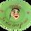 "Thumbnail: ""je rêve donc de suis"" Green handmade plate by the designer Sara Melki ."