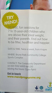MEND Programme 7-13 year old children who are above their ideal weight
