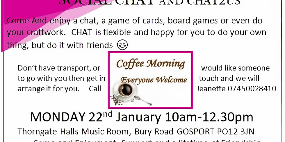 Social CHAT Coffee Morning with CHAT2US