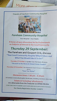 Fareham Community hospital open day