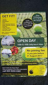 Get Fit Open Day leaflet