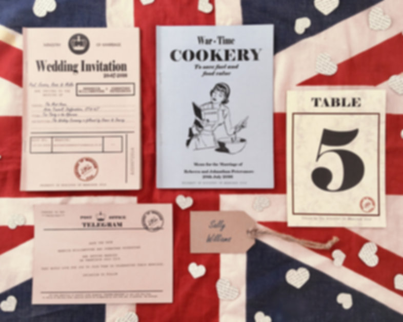G1940s home front inspired table number from the Greenery weddng Home front collection handcrafted by Little h With Love