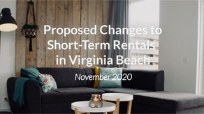 Proposed Changes to Short-Term Rentals in Virginia Beach {November 2020}
