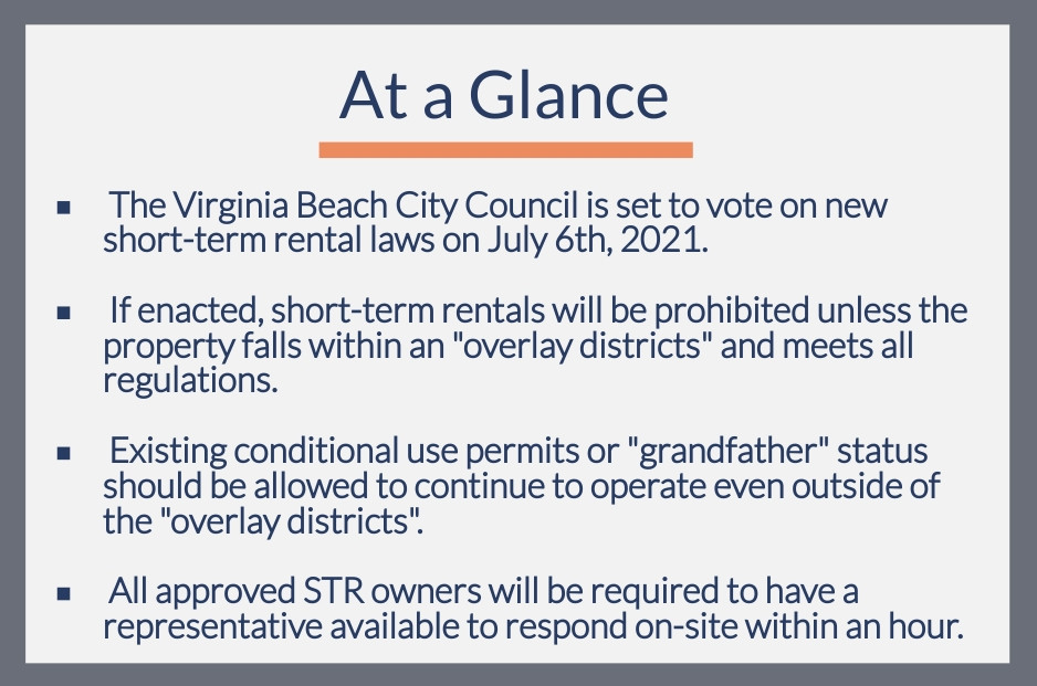 Proposed changes to short-term rental laws to be voted on by the Virginia Beach City Council