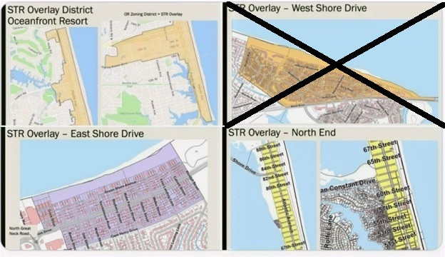 """Proposed """"overlay districts"""" in Virginia Beach. Properties that fall within designated areas will  be allowed to rent on a short-term basis """"by-right""""."""