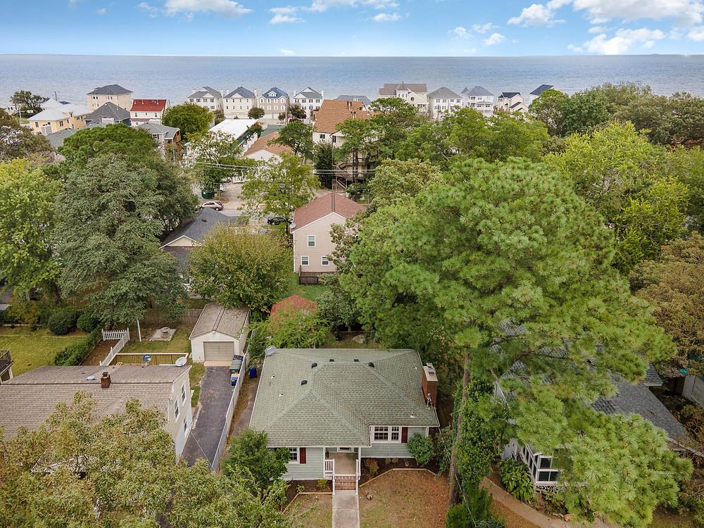 Drone photo of property in West Ocean View Norfolk taken by Next Door Photos Virginia Beach