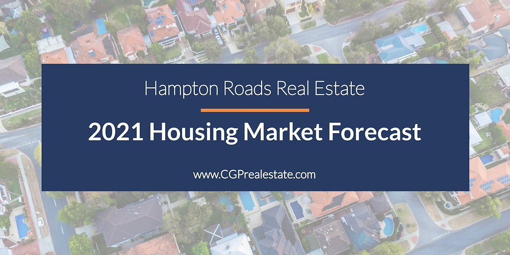 Hampton Roads housing market forecast, trends, predictions, and outlook for 2021.