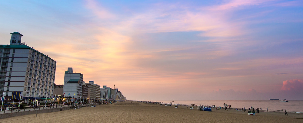 Photo of Virginia Beach Oceanfront, Boardwalk, and Atlantic Ocean