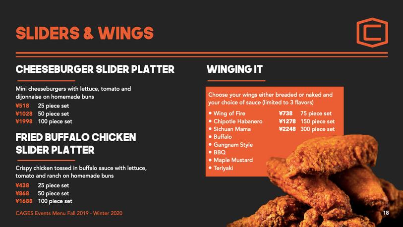 Sliders and Wings - EN