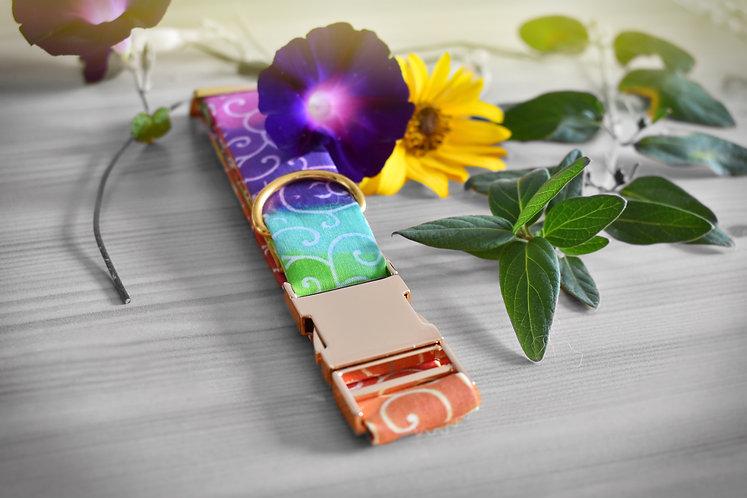 karakusa japanese dog collar rainbow nalax collection