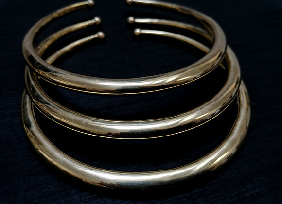 Collier torque simple doré lisse
