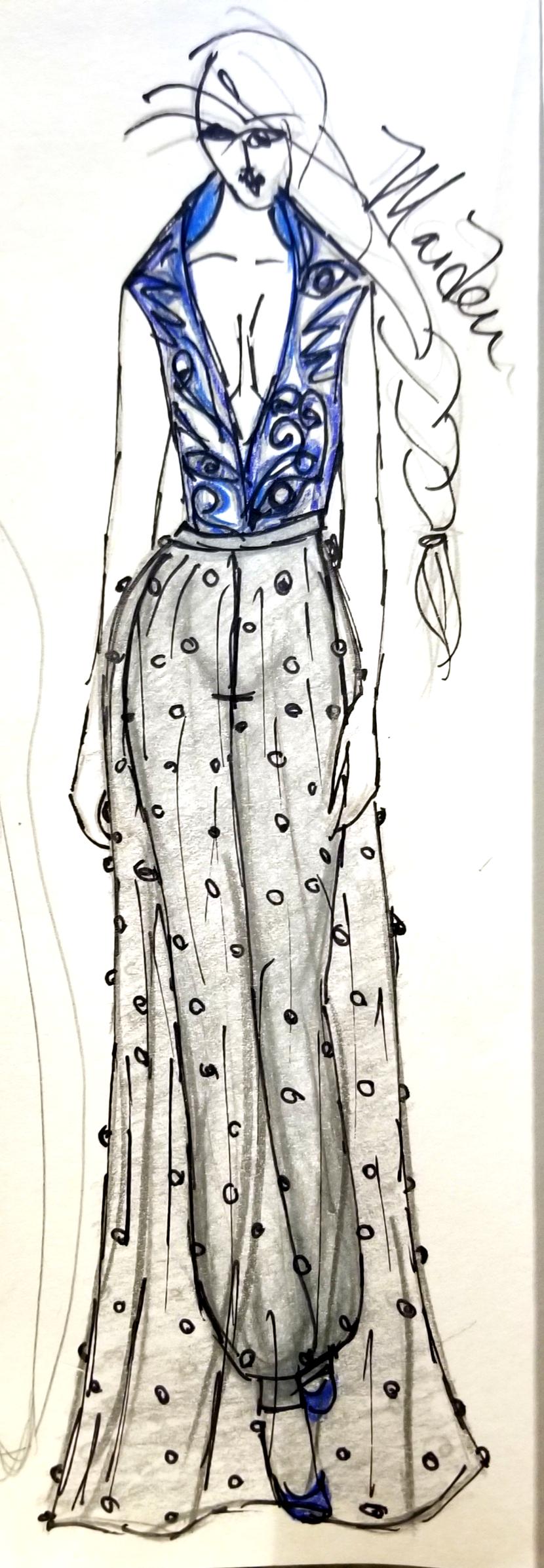 Sketch of Maiden Garment