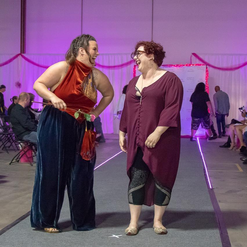 Lylajean and Designer Hannah share a moment