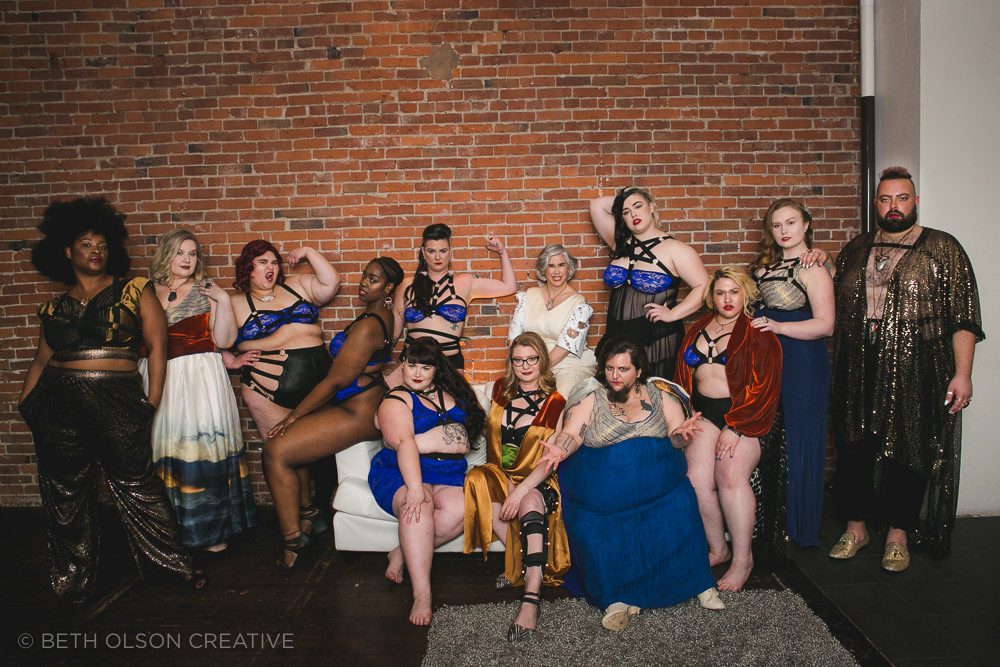 These models rocked looks by Bawdy Love and Belle Ampleur, with custom jewelry by Nature's Twist.