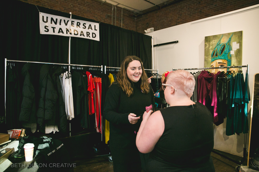 Kate from Universal Standard helped our attendees find their perfect fit at the US booth