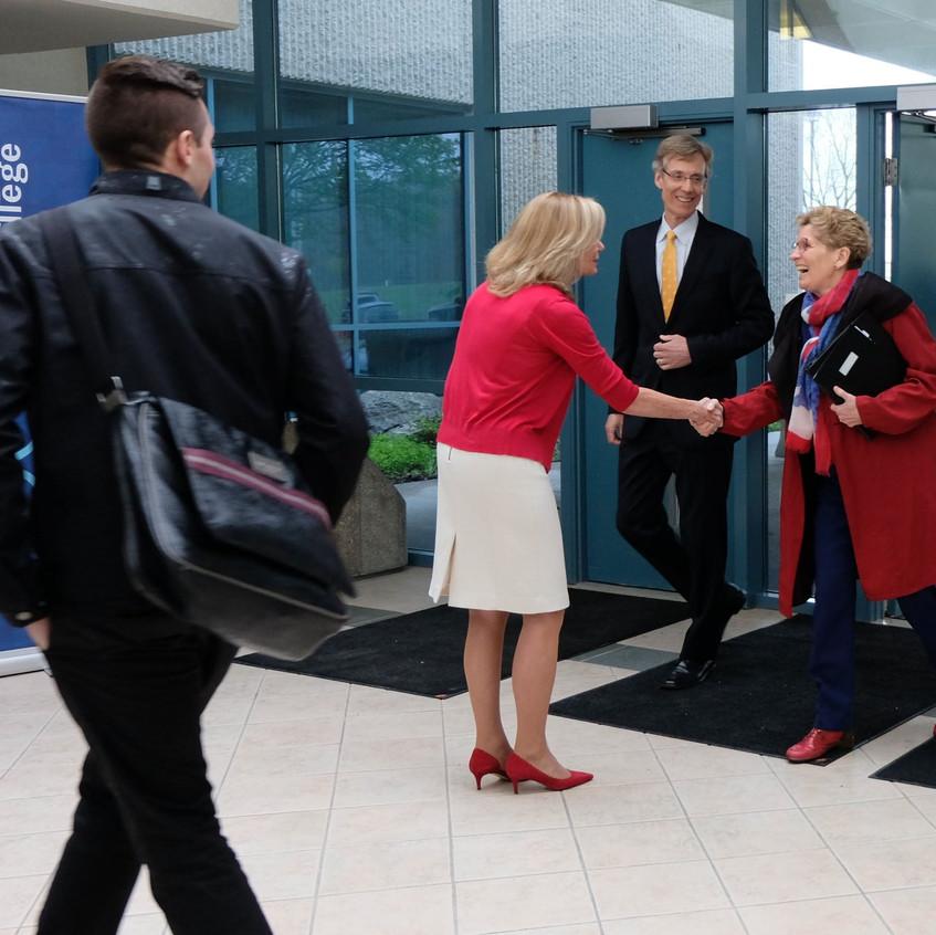 Judy Morris welcomes Premier Wynne