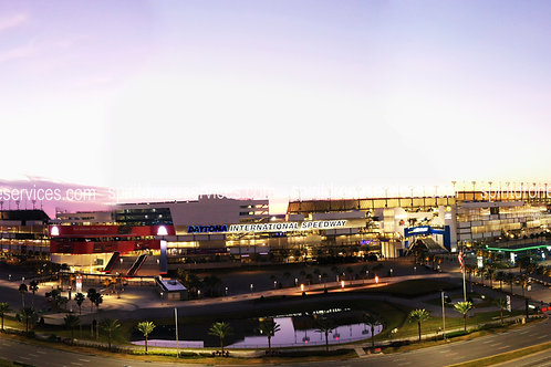 Daytona International Speedway at sunrise