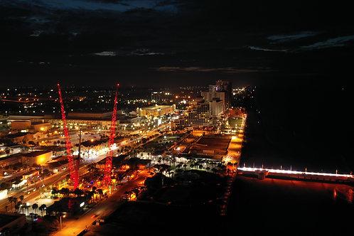 Daytona Boardwalk at night