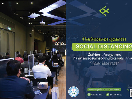Glowfish Conference Space's Social Distancing
