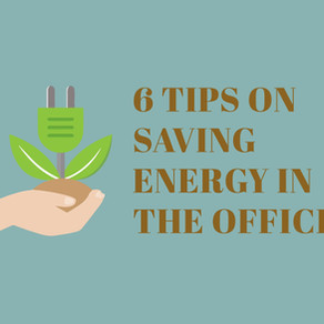6 Tips on saving energy in the office