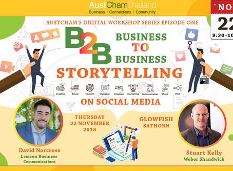 AustCham's Digital Workshop Series Episode One: B2B Storytelling on Social Media