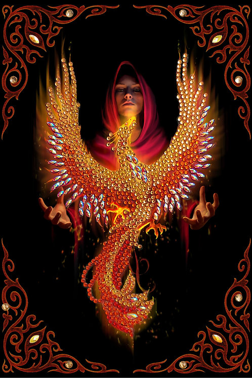 Crystal Art Notebook - Phoenix by Anne Stokes