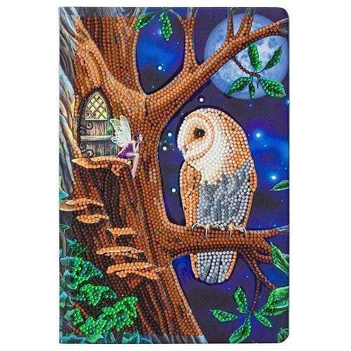 Crystal Art Notebook - Owl and Fairy Tree