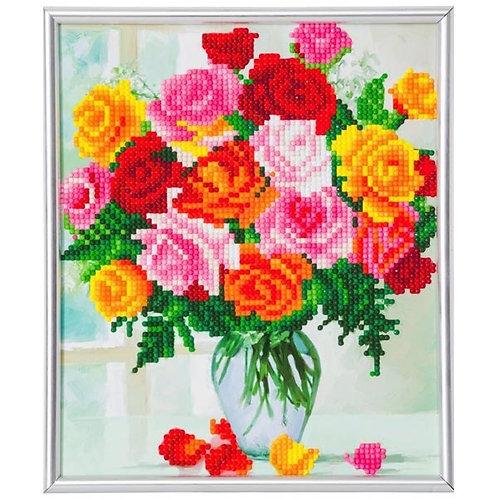 Crystal Art Frame - Flowers