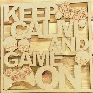 Wooden Gamers plaque