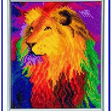 Crystal Art Frame - Rainbow Lion