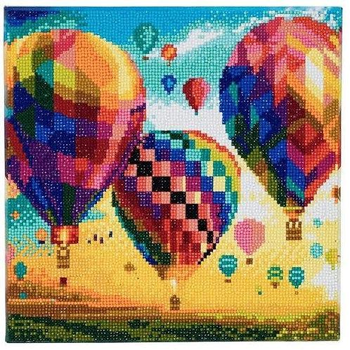 Crystal Art Canvas - Hot Air Balloon 30x30cm